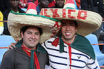 13 JUN 2010: Mexico fans. The Serbia National Team lost 0-1 to the Ghana National Team at Loftus Versfeld Stadium in Tshwane/Pretoria, South Africa in a 2010 FIFA World Cup Group D match.
