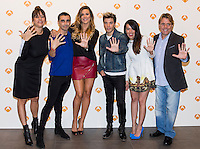 "Yolanda Ramos, Canco Rodriguez, Lorena Gomez Blas Canto, Beatriz Luengo and Juan Munoz during the presentation of the new season of ""Tu cara me suena 5""  in Madrid. October 05, 2016. (ALTERPHOTOS/Rodrigo Jimenez) /NORTEPHOTO.COM"