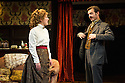 London, UK. 15.11.2013. IN THE NEXT ROOM or the vibrator play, opens at St James' Theatre, after a successful run at Theatre Royal Bath, Ustinov Studio. Picture shows: Natalie Casey (Catherine Givings) and Jason Hughes (Dr Givings). Photograph © Jane Hobson.