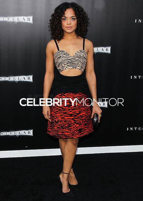 HOLLYWOOD, LOS ANGELES, CA, USA - OCTOBER 26: Tessa Thompson arrives at the Los Angeles Premiere Of Paramount Pictures' 'Interstellar' held at the TCL Chinese Theatre on October 26, 2014 in Hollywood, Los Angeles, California, United States. (Photo by Celebrity Monitor)