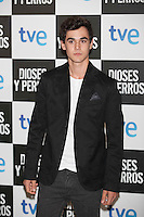 Pablo Espinosa poses at `Dioses y perros´ film premiere photocall in Madrid, Spain. October 07, 2014. (ALTERPHOTOS/Victor Blanco) /nortephoto.com