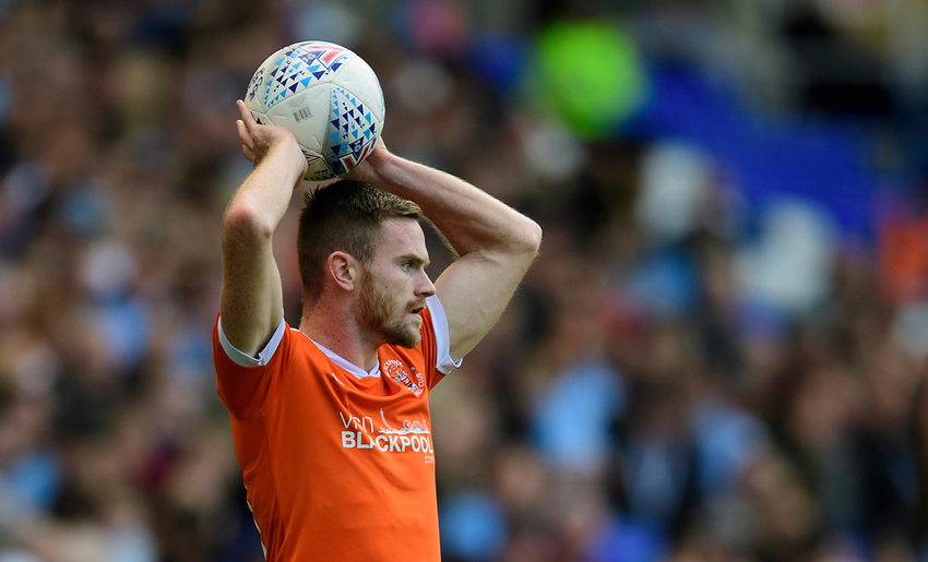 Blackpool's Oliver Turton<br /> <br /> Photographer Chris Vaughan/CameraSport<br /> <br /> The EFL Sky Bet League One - Coventry City v Blackpool - Saturday 7th September 2019 - St Andrew's - Birmingham<br /> <br /> World Copyright © 2019 CameraSport. All rights reserved. 43 Linden Ave. Countesthorpe. Leicester. England. LE8 5PG - Tel: +44 (0) 116 277 4147 - admin@camerasport.com - www.camerasport.com