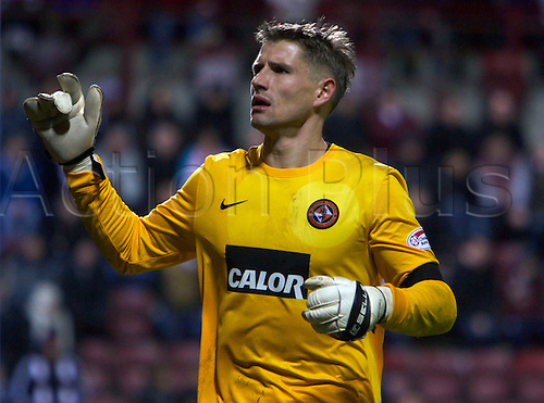 23.12.2012 Edinburgh, Scotland.    Dundee United's Rado Cierzniak  during the Clydesdale Bank, Scottish Premier League game between Hearts  v Dundee United, from Tynecastle Park Stadium.