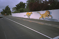 Leopard mural, Papanui Rd, Christchurch.