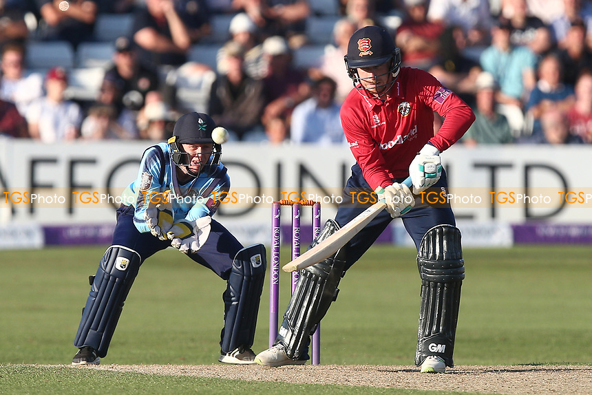 Adam Wheater of Essex plays the ramp shot for four runs during Essex Eagles vs Yorkshire Vikings, Royal London One-Day Cup Play-Off Cricket at The Cloudfm County Ground on 14th June 2018