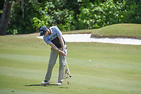 Seamus Power (IRL) hits his approach shot on 16 during Round 3 of the Zurich Classic of New Orl, TPC Louisiana, Avondale, Louisiana, USA. 4/28/2018.<br /> Picture: Golffile | Ken Murray<br /> <br /> <br /> All photo usage must carry mandatory copyright credit (&copy; Golffile | Ken Murray)
