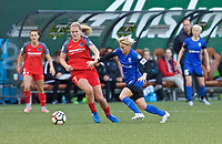 Portland, OR - Saturday May 06, 2017: Lindsey Horan, Jess Fishlock during a regular season National Women's Soccer League (NWSL) match between the Portland Thorns FC and the Chicago Red Stars at Providence Park.