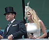"""LARA STONE BRAVES THE BLAST OF WIND TO CAPTURE THE ROYAL PROCESSION ON HER MOBILE.She was accompanied by husband DAVID WALLIAMS who presented a trophy for The King Edward Vll Stakes, Royal Ascot 2012 Day4, Ascot_22/06/2012.Mandatory Credit Photo: ©Dias/NEWSPIX INTERNATIONAL..**ALL FEES PAYABLE TO: """"NEWSPIX INTERNATIONAL""""**..IMMEDIATE CONFIRMATION OF USAGE REQUIRED:.Newspix International, 31 Chinnery Hill, Bishop's Stortford, ENGLAND CM23 3PS.Tel:+441279 324672  ; Fax: +441279656877.Mobile:  07775681153.e-mail: info@newspixinternational.co.uk"""
