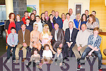 BABY JOY: Proud parents Stephanie and Ger Mulvihill, Casement Avenue, Tralee (seated centre) of little Lexi Belle who was Christened by by Fr John Quinlan at St Catherine Chruch, Tralee and celebrated afterwards with family and friends at the Ballyroe Heights hotel on Saturday.