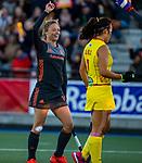 UTRECHT - Marijn Veen (Ned) scoort  tijdens  de Pro League hockeywedstrijd wedstrijd , Nederland-China (6-0) .  COPYRIGHT  KOEN SUYK