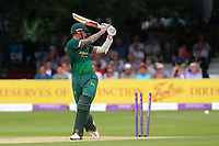 Alex Hales of Notts is bowled out by Jamie Porter during Essex Eagles vs Notts Outlaws, Royal London One-Day Cup Semi-Final Cricket at The Cloudfm County Ground on 16th June 2017