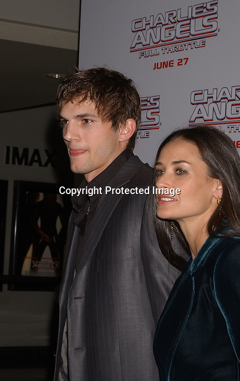 """Demi Moore and Ashton Kutcher                               ..at  """"Charlie's Angels Full throttle"""" movie screening on ..June 25,2003 at the Loews Lincoln Center in New York ..City.  Photo by Robin Platzer, Twin Images"""