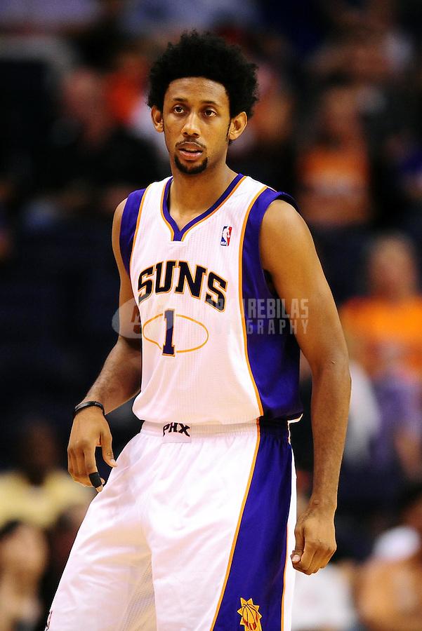 Oct. 12, 2010; Phoenix, AZ, USA; Phoenix Suns guard (1) Josh Childress against the Utah Jazz during a preseason game at the US Airways Center. Mandatory Credit: Mark J. Rebilas-