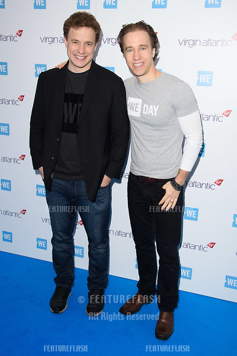 Craig Kielburger &amp; Marc Kielburger arriving for WE Day 2018 at Wembley Arena, London, UK. <br /> 07 March  2018<br /> Picture: Steve Vas/Featureflash/SilverHub 0208 004 5359 sales@silverhubmedia.com