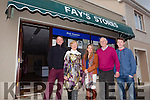 Closing the door to the last shop in Brosna village was Terry and Marie Fay, pictured here last Saturday in Brosna with close family members, l-r: Bernard, Marie, Percilla, Terry and Aaron Fay.