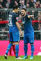 25.01.2018, Allianz Arena, Muenchen, GER, 1.FBL, FC Bayern Muenchen vs TSG 1899 Hoffenheim , <br />Ermin Bičakčić (Hoffenheim), Benjamin Huebner (Hoffenheim) *** Local Caption *** © pixathlon<br /> Contact: +49-40-22 63 02 60 , info@pixathlon.de