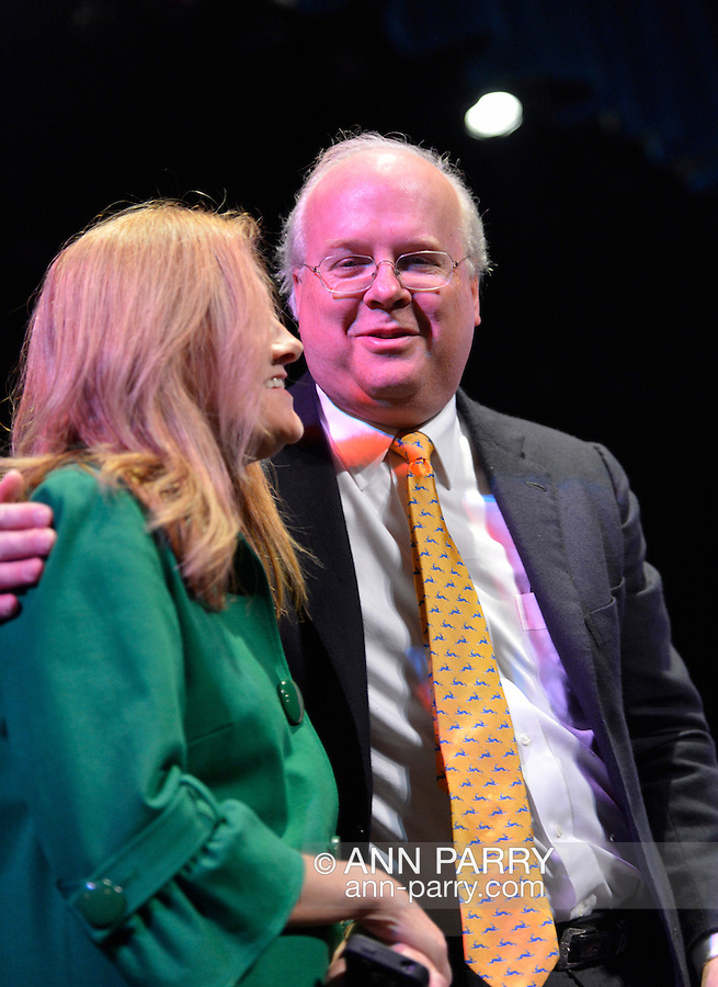 """Oct. 11, 2012 - Hempstead, New York, U.S. - KARL ROVE, former Deputy Chief of Staff and Senior Advisor to Pres. G. W. Bush, poses for photo after Point/Counterpoint discussion at Hofstra University Debate 2012 event. This is part of """"Debate 2012 Pride Politics and Policy"""" a series of events leading up to when Hofstra hosts the 2nd Presidential Debate between Obama and M. Romney, on October 16, 2012, in a Town Meeting format."""