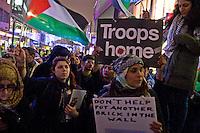 Gaza Demo Waterstones Bull ring Birmingham 16 Nov 2012