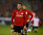 Billy Sharp of Sheffield Utd warm up during the Championship match at the Bramall Lane Stadium, Sheffield. Picture date 27th September 2017. Picture credit should read: Simon Bellis/Sportimage