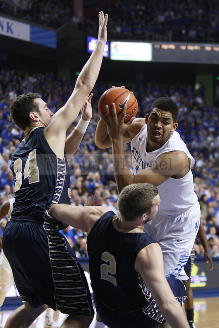 UK forward Karl-Anthony Towns drives to the basket during UK vs. Montana State in Rupp Arena in Lexington, Ky., on Sunday, November 23,  2014. Photo by Emily Wuetcher | Staff
