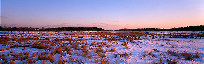 Late afternoon light colors the salt marsh at Odiorne State Park in Rye, site of the first settlement in New Hampshire. Photograph by Peter E, Randall
