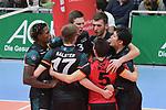 06.01.2018,  Lueneburg GER, VBL, SVG Lueneburg vs TV Buehl im Bild die Mannschaft von Buehl jubelt / Foto © nordphoto / Witke