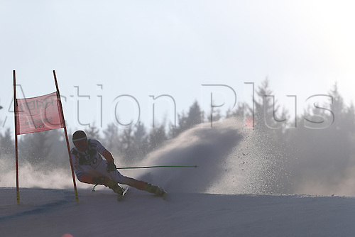 15.02.2013, Schladming, Austria. Steffan Winkelhorst in action during the qualification race of the Giant Slalom of  the FIS Alpine World Ski Championships 2013