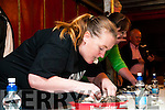 Ballylongford Oyster Festival : Michelle Mulvihill from Tarbert taking part in the Oyster eating competition at the Ballylongford Oyster Festival on Friday evening last.