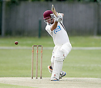 Michael Philipson bats for Hornsey during the Middlesex County Cricket League Premier Division game between Hornsey and North Middx at Park Road, Crouch End on Sat June 28, 2014.