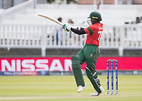 Shakib Al Hasan (Bangladesh) pulls a short delivery square of the wicket during Pakistan vs Bangladesh, ICC World Cup Cricket at Lord's Cricket Ground on 5th July 2019