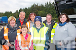 Helping hands were plenty from members of the Killarney & District Motor Club at the Cartell.ie Rally of the Lakes last Saturday at the service halt at the Liebherr crane car park, Fossa, l-r: Marie O'Donoghue, Jim O'Brien, Laura, Karen J and Dean O'Sullivan, John Falvey and Karen O'Sullivan.