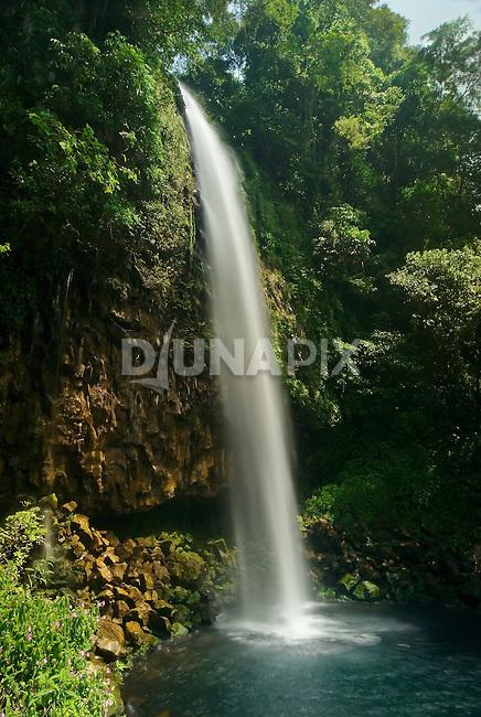 Anai waterfall offers an impressive view between Padang and Bukittinggi, west Sumatra.