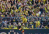 Dortmund, Germany, 1. Football  BL,  match day 31 ,<br /> Borussia Dortmund vs Bayer Leverkusen 4-021. 04 .2018  Signal - Iduna Park stadium  in Dortmund <br /> Jadon Malik SANCHO (BVB)  1-0  *** Local Caption *** © pixathlon<br /> Contact: +49-40-22 63 02 60 , info@pixathlon.de