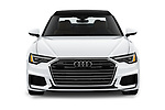 Car photography straight front view of a 2019 Audi A6 Premium Plus 4 Door Sedan
