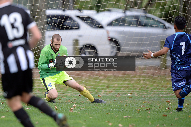 NELSON, NEW ZEALAND - APRIL 29: FC Nelson 1st XI v Nelson College 1st XI, April 29, 2017, Guppy Park, Nelson, New Zealand. (Photo by: Barry Whitnall Shuttersport Limited)