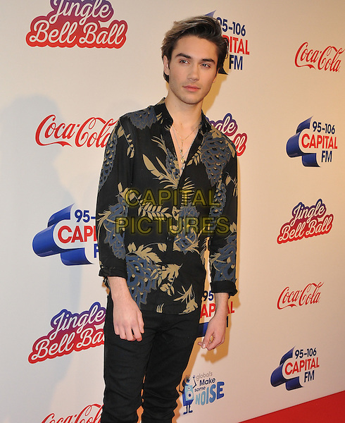 George Shelley at the Capital FM Jingle Bell Ball, The London O2 Arena, Peninsula Square, London, England, UK, on Saturday 03 December 2016. <br /> CAP/CAN<br /> &copy;CAN/Capital Pictures