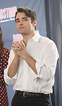 Corey Cott performs during the 'Bandstand' Broadway cast press presentation at the Rainbow Room on March 7, 2017 in New York City.