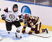 Kevin Sullivan (Union - 16), Wade Bergman (Duluth - 28) - The University of Minnesota-Duluth Bulldogs defeated the Union College Dutchmen 2-0 in their NCAA East Regional Semi-Final on Friday, March 25, 2011, at Webster Bank Arena at Harbor Yard in Bridgeport, Connecticut.