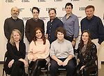 (L-R, 2nd row) Director Daniel Sullivan, playwright Steven Levenson, actors Jeremy Shamos, Gary Wilmes and Larry Bryggman, (L-R, 1st row) actors Tasha Lawrence, Kate Walsh, Seth Steinberg and Maria Dizzia attend the 'If I Forget' cast photocall at the Roundabout Rehearsal Studios on January 12, 2017 in New York City.