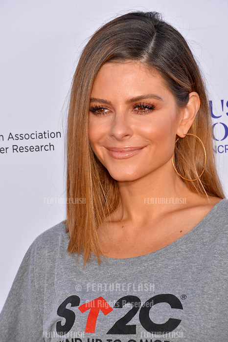 SANTA MONICA, CA. September 07, 2018: Maria Menounos at the 2018 Stand Up To Cancer fundraiser at Barker Hangar, Santa Monica Airport.