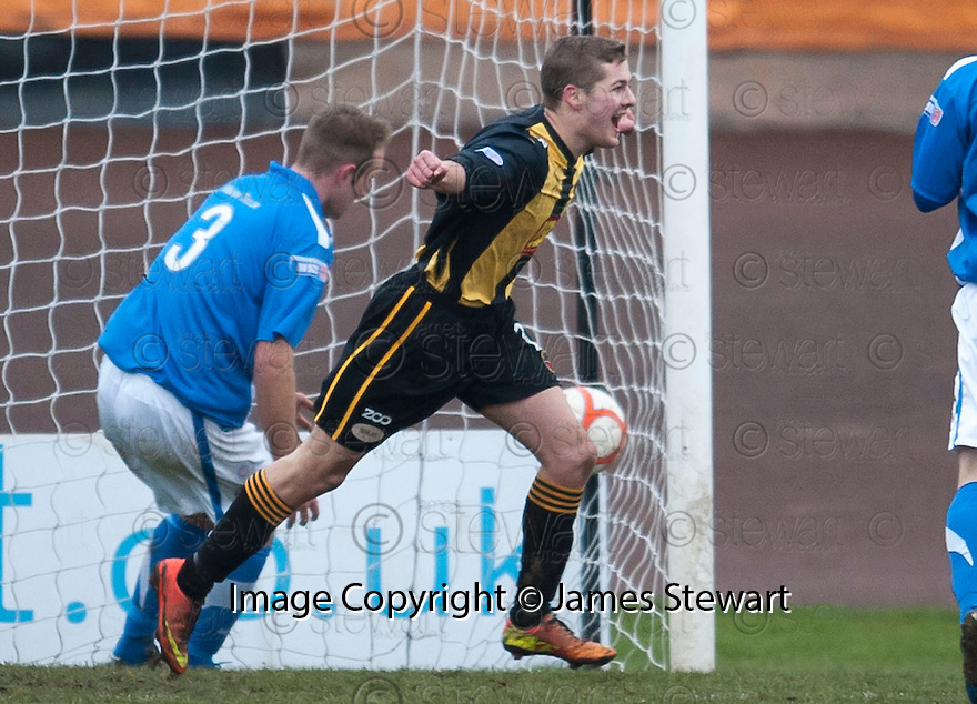 Berwick's Dean Carse celebrates after he scores their fourth goal.
