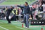 14.04.2019, Merkur Spielarena, Duesseldorf , GER, 1. FBL,  Fortuna Duesseldorf vs. FC Bayern Muenchen,<br />  <br /> DFL regulations prohibit any use of photographs as image sequences and/or quasi-video<br /> <br /> im Bild / picture shows: <br /> Niko Kovač Trainer / Headcoach (Bayern Muenchen), regt sich heftig auf, Gestik, Mimik,   Friedhelm Funkel Trainer / Headcoach (Fortuna Duesseldorf), verrengt sich <br /> <br /> Foto © nordphoto / Meuter