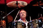 Pink Floyd - drummer Nick Mason of - performing live with the reunited line-up on stage at the Live 8 concert in Hyde Park, London UK - 02 July 2005.  Photo credit: George Chin/IconicPix