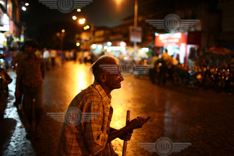 A beggar in the new market area of Kolkata.