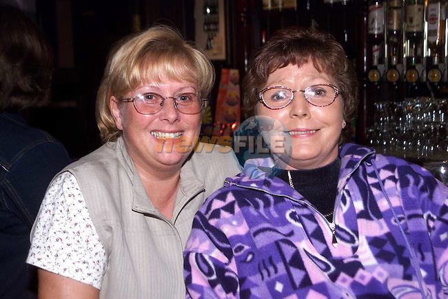 Jean McCormack, Hillview and Mary Hoey, Hibury enjoying a night out in the Trinity Arms..Picture Paul Mohan Newsfile