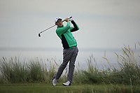 Aaron Marshall of Ireland during Day 2 / Foursomes of the Boys' Home Internationals played at Royal Dornoch Golf Club, Dornoch, Sutherland, Scotland. 08/08/2018<br />