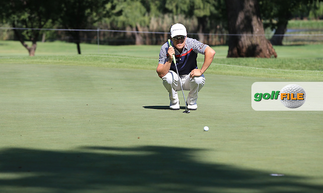 Christiaan Basson (RSA) in action on the 7th during the completion of Round Two of the 2016 BMW SA Open hosted by City of Ekurhuleni, played at the Glendower Golf Club, Gauteng, Johannesburg, South Africa.  09/01/2016. Picture: Golffile | David Lloyd<br /> <br /> All photos usage must carry mandatory copyright credit (&copy; Golffile | David Lloyd)