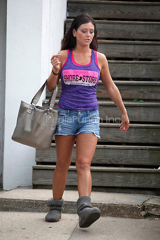 J Woww leaving the house to go to work at the Tee Shirt Store in Seaside Heights, NJ on July 7, 2011  © Star Shooter / MediaPunchInc