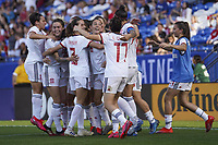 11th March 2020, Frisco, Texas, USA;  Spanish team celebrate Alexia Putellas goal for 0-1 during the 2020 SheBelieves Cup Womens International Friendly football match between England Women vs Spain Women at Toyota Stadium in Frisco