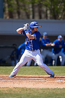 Braxton Martinez (23) of the Saint Louis Billikens at bat against the Davidson Wildcats at Wilson Field on March 28, 2015 in Davidson, North Carolina. (Brian Westerholt/Four Seam Images)